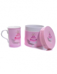 CANECA PINK PEARL AND LACE